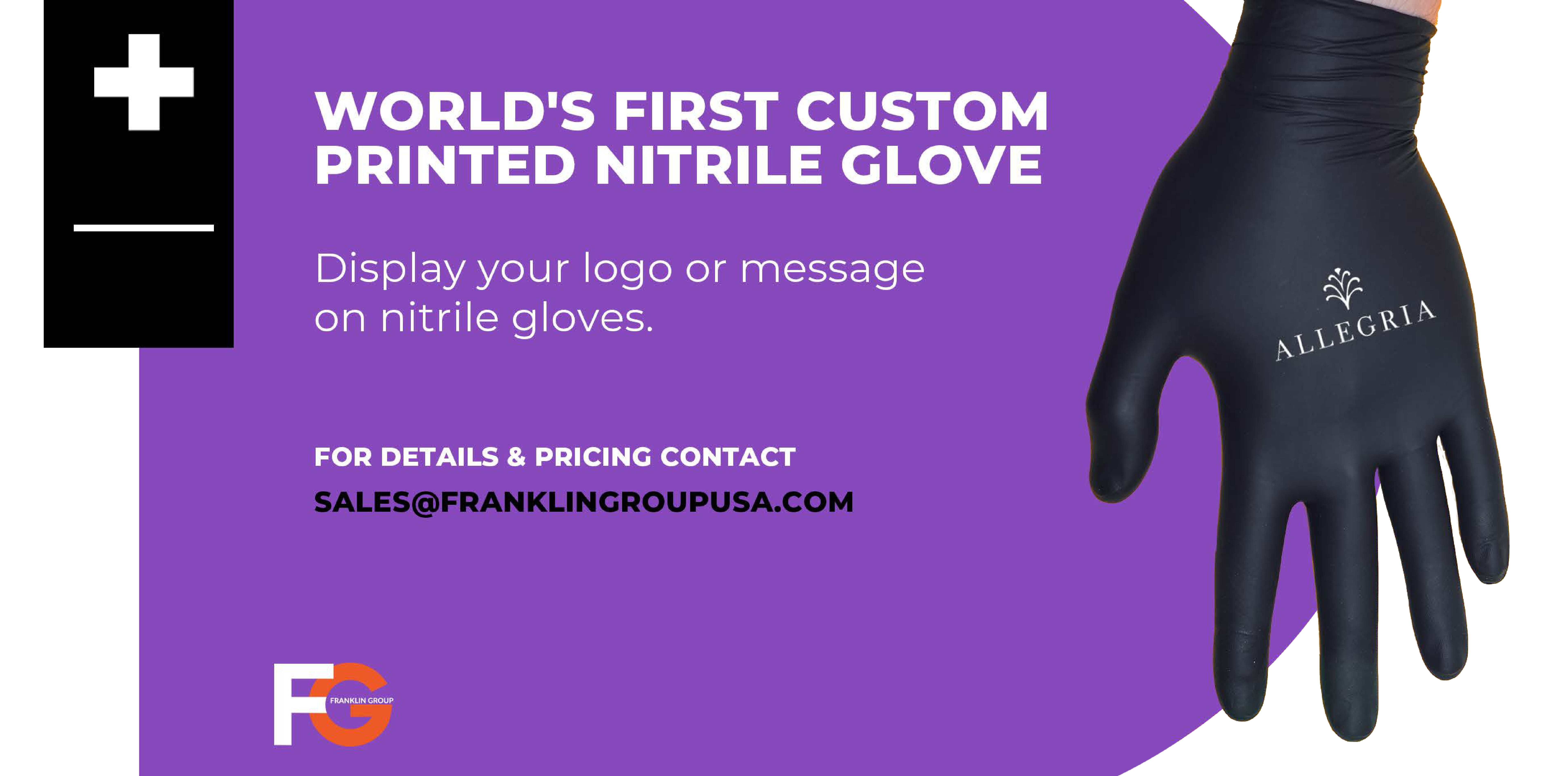 Custom Printed Nitrile Gloves