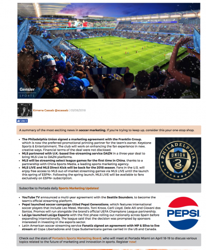 The Week in Soccer Marketing